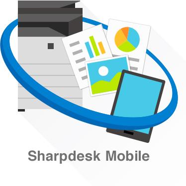 sharp desk mobile