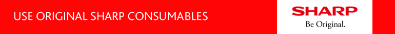 USE ORIGINALSHARP CONSUMABLES BANNER